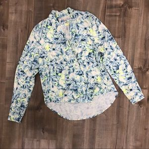 Lovers + Friends get down abstract floral blouse